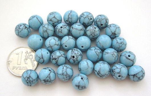 Для украшений ручной работы. Ярмарка Мастеров - ручная работа. Купить Кахолонг тонированный голубой, бусины. Handmade. Голубой, кахолонг