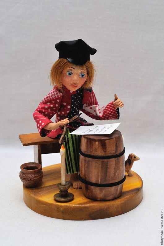Коллекционные куклы ручной работы. Ярмарка Мастеров - ручная работа. Купить НА ДЕРЕВНЮ К ДЕДУШКЕ авторская кукла черная пятница. Handmade.