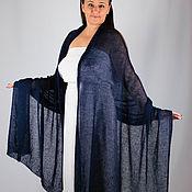 Аксессуары handmade. Livemaster - original item Kidmocher Knitted Stole Dark Blue. Handmade.