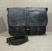 Сумки и аксессуары handmade. Livemaster - original item Men`s leather messenger bag JAZZ dark khaki. Handmade.