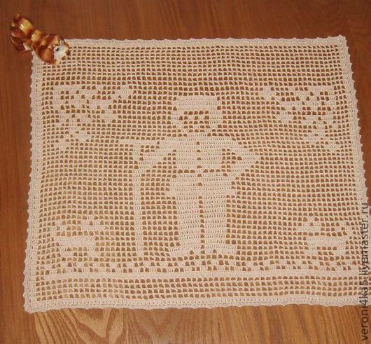 Текстиль, ковры ручной работы. Ярмарка Мастеров - ручная работа. Купить Салфетка декоративная. Handmade. Салфетка крючком, столовый, хлопок