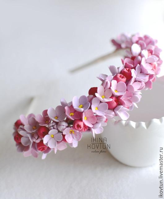 """Диадемы, обручи ручной работы. Ярмарка Мастеров - ручная работа. Купить Ободки """"Цветы лета"""". Handmade. Разноцветный, ободок с цветами"""