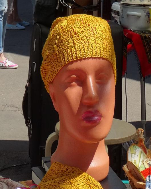 """Шапки ручной работы. Ярмарка Мастеров - ручная работа. Купить Шапочка """"Листья Лориэна"""". Handmade. Женская шапка, ажурный узор"""
