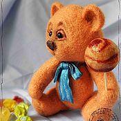 Куклы и игрушки ручной работы. Ярмарка Мастеров - ручная работа Игрушка из шерсти. Карамельный мишка. Handmade.