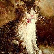 Картины и панно handmade. Livemaster - original item Oil painting snow leopard. Handmade.