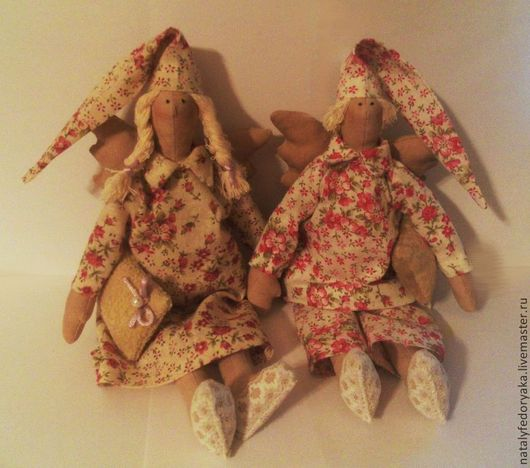 Куклы Тильды ручной работы. Ярмарка Мастеров - ручная работа. Купить Сонный ангел. Handmade. Бежевый, тильда, сплюшка, сплюша