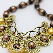 Украшения handmade. Livemaster - original item Necklace soutache Golden age, accessories Anna Black. Handmade.