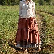 Одежда handmade. Livemaster - original item The floor-length skirt in the style of boho