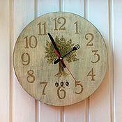 """Для дома и интерьера ручной работы. Ярмарка Мастеров - ручная работа Часы """"Оливковое дерево"""". Handmade."""