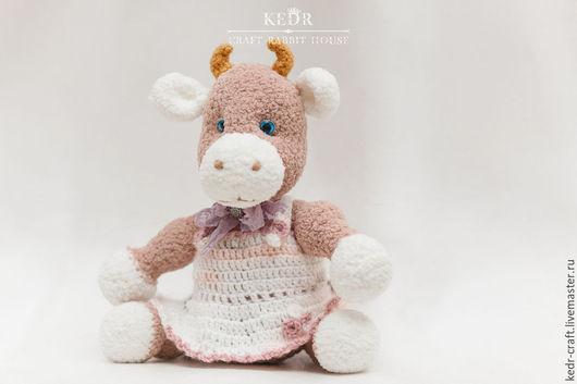Игрушки животные, ручной работы. Ярмарка Мастеров - ручная работа. Купить вязаная мягкая игрушка молочная  корова Тонечка. Handmade.