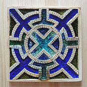 Картины и панно ручной работы. Ярмарка Мастеров - ручная работа Морской лабиринт (керамическое панно со стеклом). Handmade.