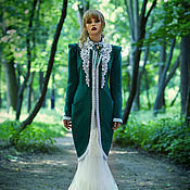 Одежда handmade. Livemaster - original item Designer emerald (green) coat - Catherine`s emerald. Handmade.
