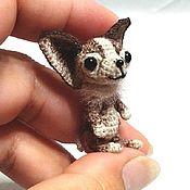 Куклы и игрушки handmade. Livemaster - original item Chihuaha - miniature 3,5 cm crocheted. Handmade.
