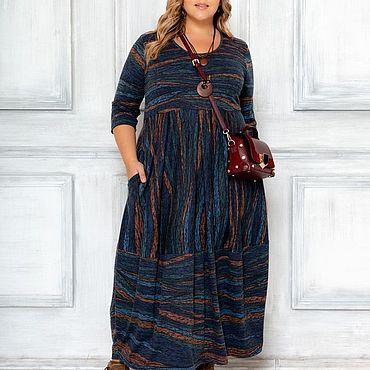 Одежда ручной работы. Ярмарка Мастеров - ручная работа Платье бохо большого размера. Handmade.