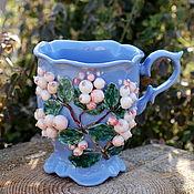 Посуда handmade. Livemaster - original item Mugs and cups: The snowberry. Handmade.