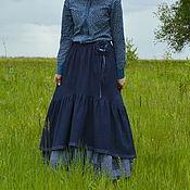 """Одежда ручной работы. Ярмарка Мастеров - ручная работа Комплект юбочек в стиле бохо """"Синий пэчворк"""". Handmade."""