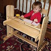 """Для дома и интерьера ручной работы. Ярмарка Мастеров - ручная работа Комплект """"растущей"""" мебели. Стол(парта-мольберт) + стул. Handmade."""