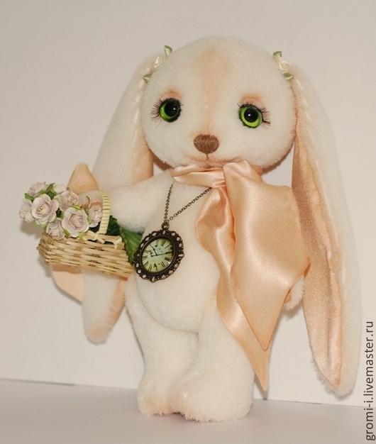 Мишки Тедди ручной работы. Ярмарка Мастеров - ручная работа. Купить Зайка Стеша. Handmade. Белый, зайцы, коллекционные игрушки