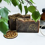 Soap handmade. Livemaster - original item Tar soap natural, Healer tar soap from scratch. Handmade.