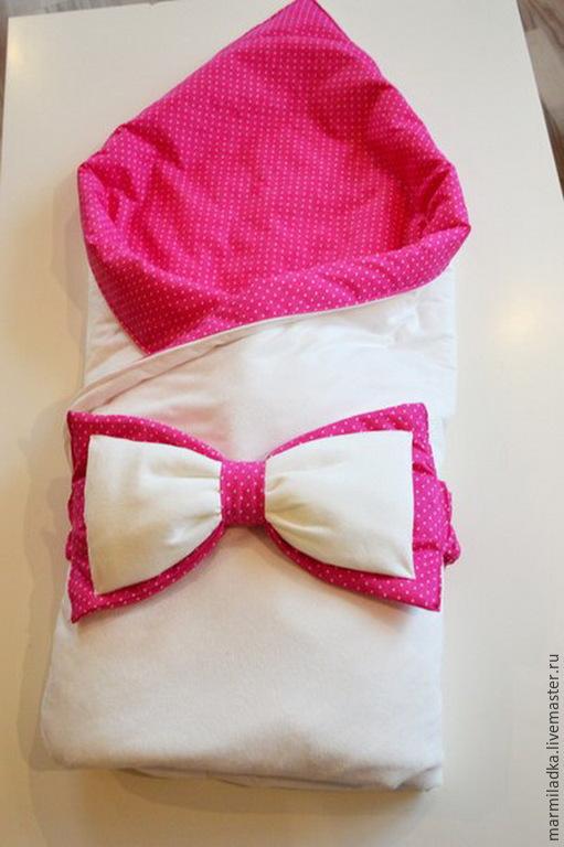 Для новорожденных, ручной работы. Ярмарка Мастеров - ручная работа. Купить Конверт-одеяло для новорожденного. Handmade. Конверт на выписку