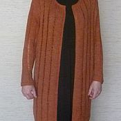 Одежда ручной работы. Ярмарка Мастеров - ручная работа Кардиган с ажурными протяжками. Handmade.