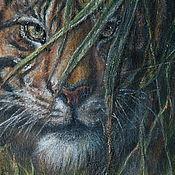 """Картины и панно ручной работы. Ярмарка Мастеров - ручная работа Картина """"Книга джунглей. Шер Хан, часть 1"""".. Handmade."""