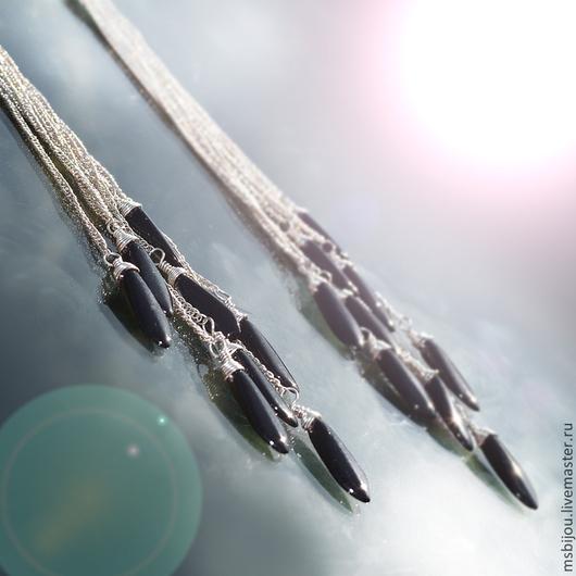 стильные серьги, модные серьги, дизайнерская бижутерия, необычные серьги, очень длинные серьги