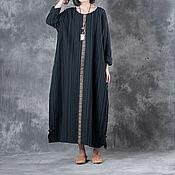 Одежда handmade. Livemaster - original item black long sleeve dress. Handmade.