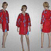 Одежда ручной работы. Ярмарка Мастеров - ручная работа Размер S-M Льняное мини платье. Handmade.