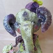 Куклы и игрушки ручной работы. Ярмарка Мастеров - ручная работа Тедди Слоняша Тоби. Handmade.