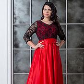 Платья ручной работы. Ярмарка Мастеров - ручная работа Нарядное платье большого размера. Handmade.