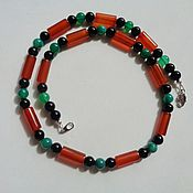 Украшения handmade. Livemaster - original item Men`s choker with natural carnelian, agate and onyx. Handmade.