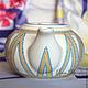 чайник, чайник заварочный, чайник заварочный фарфоровый, чайник фарфоровый с росписью, авторская роспись фарфора, чайная посуда, посуда фарфоровая, маленький плоский чайник, точечная роспись
