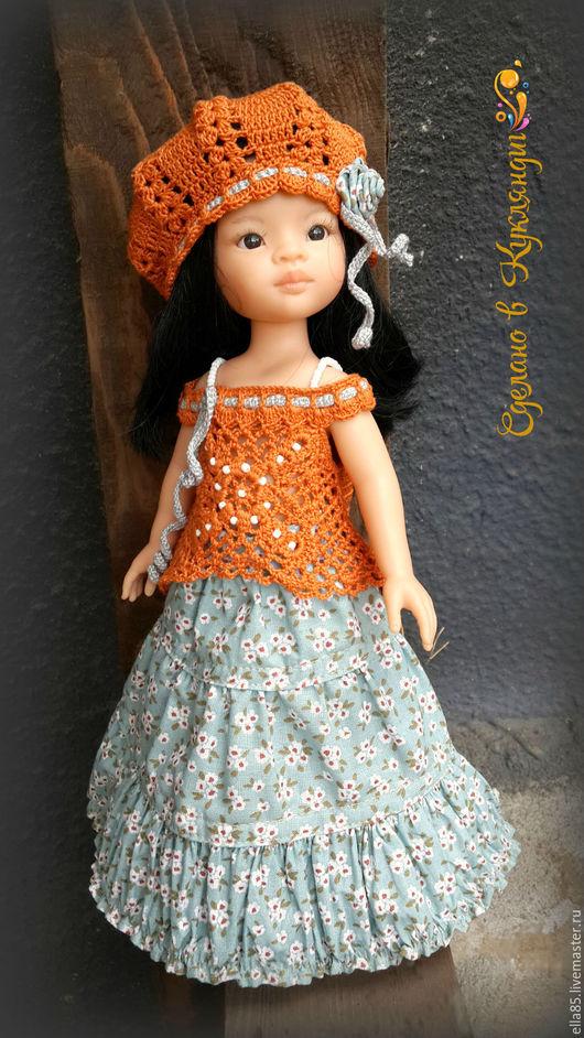 Одежда для кукол ручной работы. Ярмарка Мастеров - ручная работа. Купить Комплект в стиле бохо для кукол 32 см. Handmade.