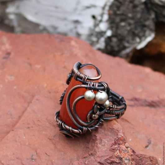 """Кольца ручной работы. Ярмарка Мастеров - ручная работа. Купить Кольцо  """"Cappadocia"""". Handmade. Оранжевый, яркое украшение, античный стиль"""