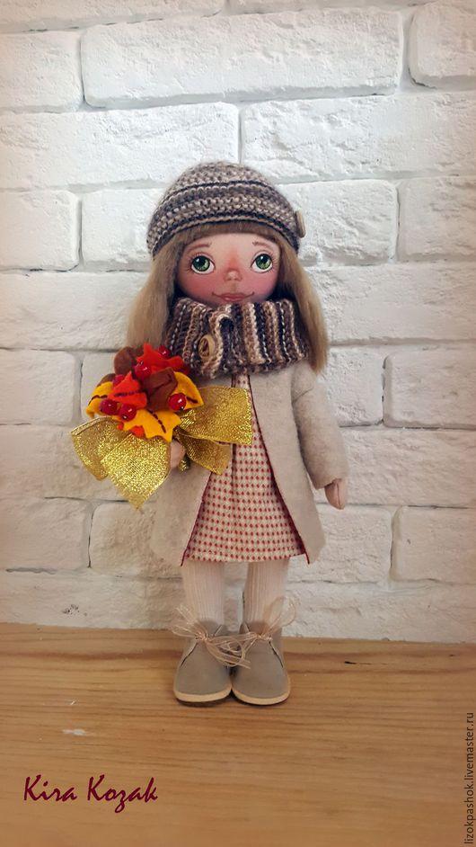 Коллекционные куклы ручной работы. Ярмарка Мастеров - ручная работа. Купить Осень. Handmade. Бежевый, игрушка ручной работы