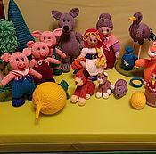 """Мягкие игрушки ручной работы. Ярмарка Мастеров - ручная работа Вязаный театр """"Сказки"""". Handmade."""