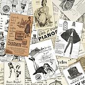 Бумага ручной работы. Ярмарка Мастеров - ручная работа Винтажная реклама-1 (CP04273) - рисовая бумага, А3. Handmade.