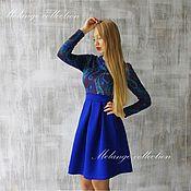 Одежда ручной работы. Ярмарка Мастеров - ручная работа Теплые трикотажные платьица. Handmade.