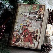 Подарки к праздникам ручной работы. Ярмарка Мастеров - ручная работа Новогодняя сказка ( старый короб-книга). Handmade.