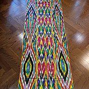 Материалы для творчества handmade. Livemaster - original item Vintage Uzbek silk ikat Han Atlas 296sm. VMI011. Handmade.