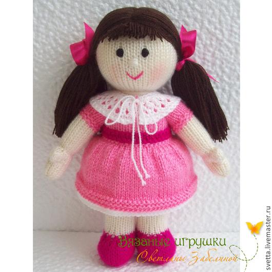 """Человечки ручной работы. Ярмарка Мастеров - ручная работа. Купить Вязаная игрушка """"Кукла Катя"""". Handmade. Кукла, подарок для девочки"""