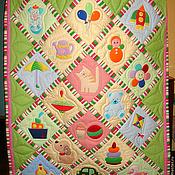 """Для дома и интерьера ручной работы. Ярмарка Мастеров - ручная работа Одеялко """"Любимые игрушки"""". Handmade."""