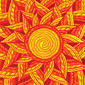 Открытки ручной работы. Ярмарка Мастеров - ручная работа Открытка Солнце заплетает косы. Handmade.