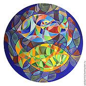 """Картины и панно ручной работы. Ярмарка Мастеров - ручная работа Картина """" Зачарованные рыбки"""". Handmade."""