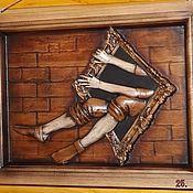 Картины и панно ручной работы. Ярмарка Мастеров - ручная работа Резное дерево_Черный квадрат. Handmade.
