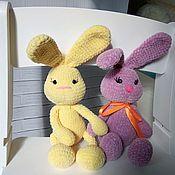 Куклы и игрушки handmade. Livemaster - original item Plush Bunny. Knitted toy-Bunny. Marshmallow Bunny.. Handmade.