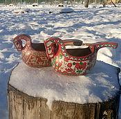 Русский стиль ручной работы. Ярмарка Мастеров - ручная работа Ковш коник малый. Handmade.