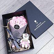 Мыло ручной работы. Ярмарка Мастеров - ручная работа Мыло: Подарочный набор с мишкой. Handmade.