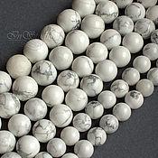 Бусины ручной работы. Ярмарка Мастеров - ручная работа Кахолонг 8 10 12 мм шар - бусины камни для украшений. Handmade.